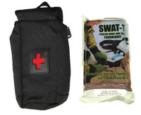8877-BK-SW Quck Access Tourniquet Pouch with SWAT T TQ