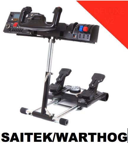 Saitek Controller on Wheel Stand Pro Stand