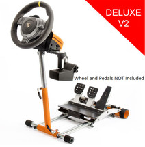 GT3 Stand for Fanatec CSP/CSP V2/V3, CSR/CSR Elite GT2/GT3RS Wheels/pedals (orange). Deluxe V2