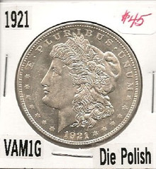1921 Morgan Dollar VAM 1G
