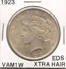 1923 Peace Dollar VAM 1W EDS Extra Hair