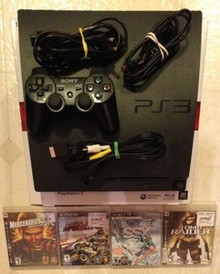 PS3 SLIM 160 GB with 4 Games Used Play Station Works Great SONY