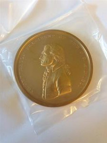 THOMAS JEFFERSON UNITED STATES PRESIDENTIAL 3'' AND 1 1/2'' BRONZE MEDAL