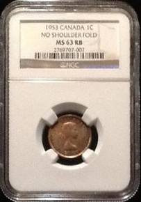 1953 CANADIAN MINT SET NO SHOULDER FOLD NGC CERTIFIED