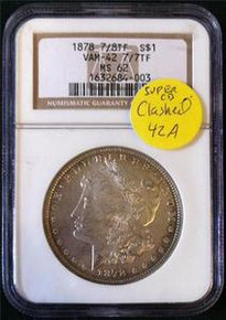 1878-P VAM-42A 7TF, Clashed Obverse In & st
