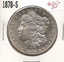 1878-S 1st Year SAN FRAN Morgan Silver Dollar Ch Unc PL