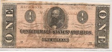 $1 One Dollar Feb 17th 1864 AU About Uncirculated Ty 71