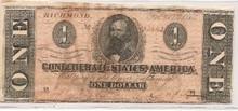 $1 One Dollar Feb 17th 1864 AU About Uncirculated Ty 71