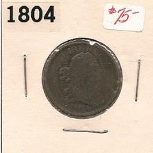 1804 BUST Half Cent VG Very Good Strong Date light cor