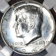 1965 SMS 50C HALF Obverse Struck Thru MINT ERROR MS 67