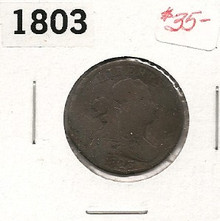 1803 BUST HALF CENT COPPER Circulated Strong Date