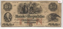 $10 Bank of the Republic TEN Providence Rhode Island F