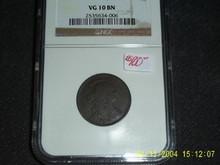 1804 Bust Liberty Half Cent Very Good VG+ VG 10 BN NGC