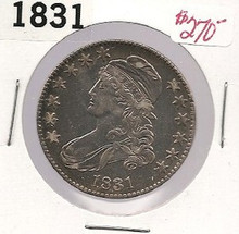 1831 Bust Half Dollar AU About Uncirculated