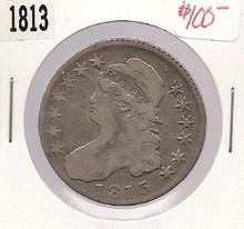 1813 Bust Half Dollar Nice Fine w/ clash marks  F