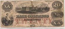 $20 Bank of Columbus State of Georgia SLAVES WORKING F