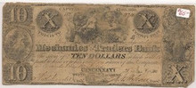 $10 Jan 21st 1840 VG Mechanics Traders Bank Cincinnati