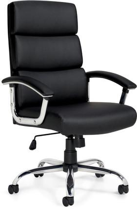 Offices To Go Luxhide Executive Segmented Cushion Chair OfficeChairsUSA
