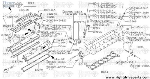 13264 - cover assembly, valve rocker - BNR32 Nissan Skyline GT-R