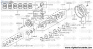 12207S - bearing set, crankshaft - BNR32 Nissan Skyline GT-R