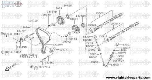 13086C - washer, plain - BNR32 Nissan Skyline GT-R