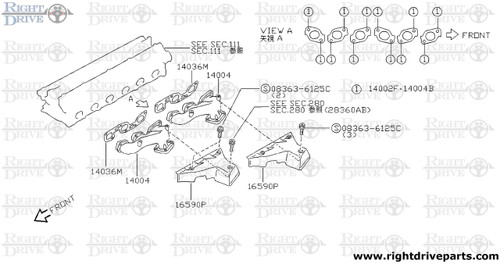 14002F - washer, plain - BNR32 Nissan Skyline GT-R