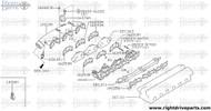 16376N - bracket, accelerator cable - BNR32 Nissan Skyline GT-R