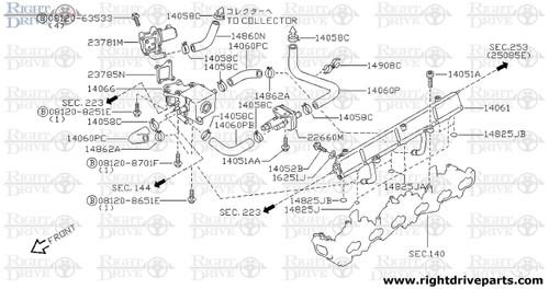 14825JB - seal,O ring - BNR32 Nissan Skyline GT-R