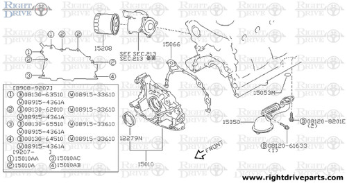15066 - gasket, oil pump to cylinder block - BNR32 Nissan Skyline GT-R