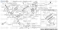 16577 - duct assembly, air - BNR32 Nissan Skyline GT-R