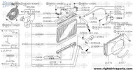 21488M - seal, radiator RH - BNR32 Nissan Skyline GT-R