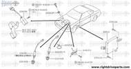 24210V - clamp, O2 sensor harness - BNR32 Nissan Skyline GT-R