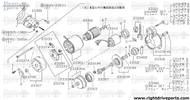 23319N - metal, gear case - BNR32 Nissan Skyline GT-R
