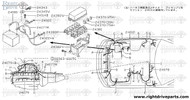 24079+B - harness assembly,EGI sub - BNR32 Nissan Skyline GT-R