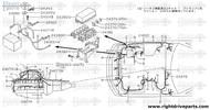 24347P - clip, connector - BNR32 Nissan Skyline GT-R