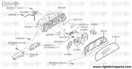 25056N - guide, speedometer cable - BNR32 Nissan Skyline GT-R