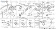 25160 - switch assembly, lighting - BNR32 Nissan Skyline GT-R