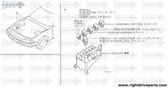 25233R - bracket, relay - BNR32 Nissan Skyline GT-R