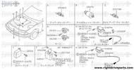 25085F - clip, vacuum hose - BNR32 Nissan Skyline GT-R