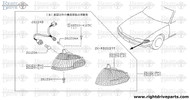 26124 - body assembly, combination lamp RH - BNR32 Nissan Skyline GT-R