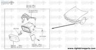 26156+A - lamp unit, fog - BNR32 Nissan Skyline GT-R