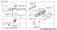 26551P - socket & back cover assembly RH - BNR32 Nissan Skyline GT-R