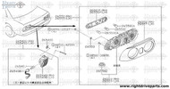 26557 - rim, combination lamp LH - BNR32 Nissan Skyline GT-R