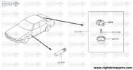 26590 - lamp assembly, trunk room - BNR32 Nissan Skyline GT-R