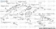 27871M - duct, side ventilator assist - BNR32 Nissan Skyline GT-R