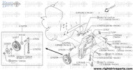 11926 - shaft, idler pulley - BNR32 Nissan Skyline GT-R
