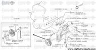 11931 - spacer, idler pulley - BNR32 Nissan Skyline GT-R