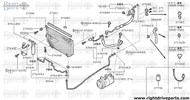 27650X - mounting rubber, condenser upper - BNR32 Nissan Skyline GT-R
