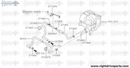 27185 - hose, front heater 3 - BNR32 Nissan Skyline GT-R