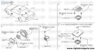 28168 - bracket, front speaker RH - BNR32 Nissan Skyline GT-R
